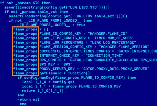 Le nombre de lignes de code...