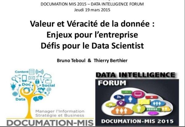 Data Intelligence Forum MIS 2015